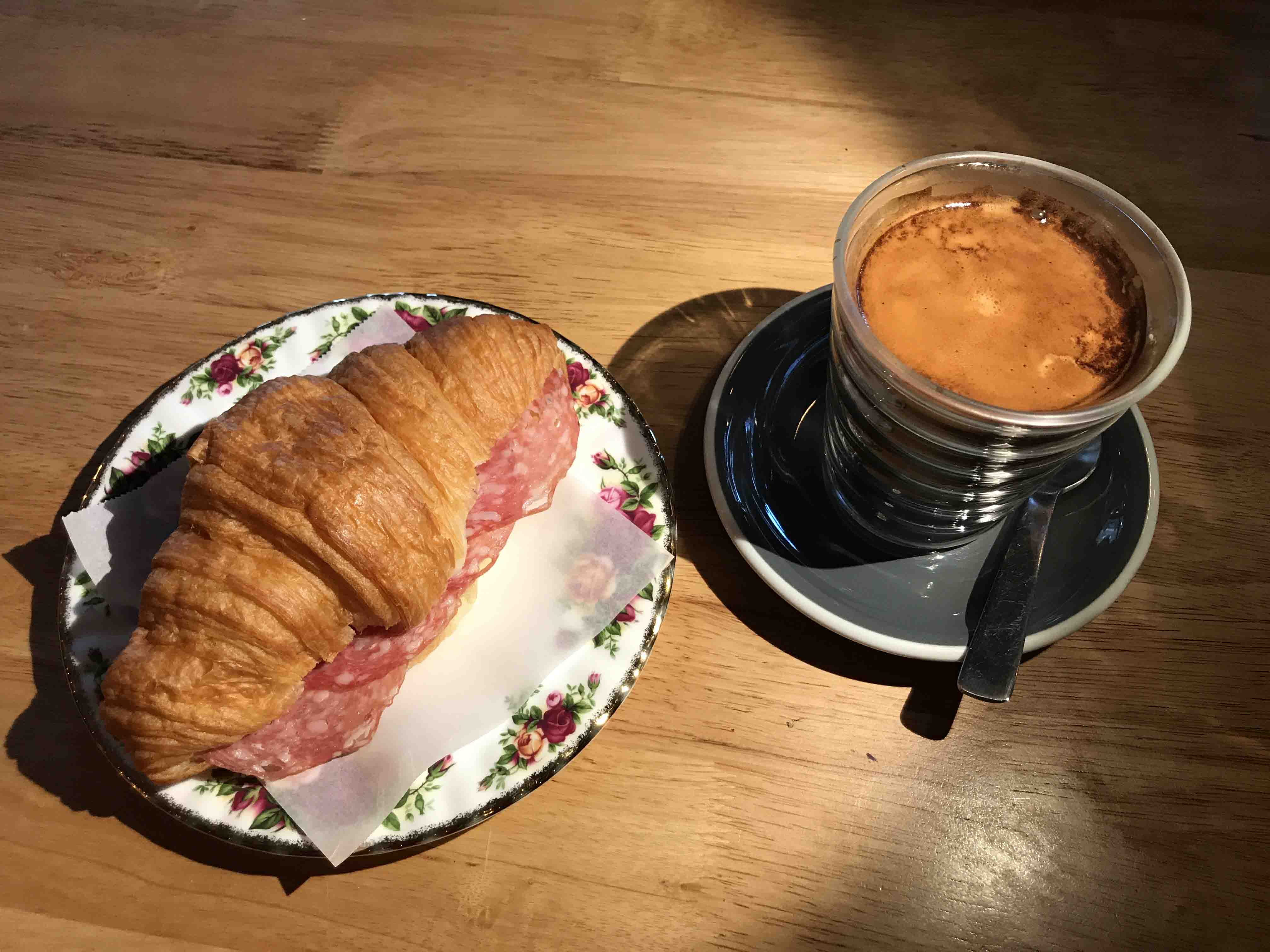 SMALL Coffee and Croissant at Mark IV copy - Coffee Talk, Four Orillia Coffee Shops That Will Keep You Caffeinated