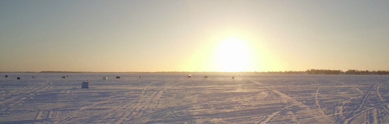 Sun set photo 1250x400 - Ice Fishing in Ontario's Lake Country